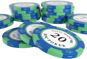 "Clay Poker Chips ""Carmela"" with Values ​​- Roll of 25"