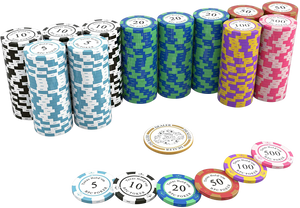"Pokerkoffer mit 500 Clay Pokerchips ""Carmela"" mit Werten"
