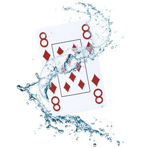 Plastic poker cards, poker size, double pack, jumbo index, 4 corner characters