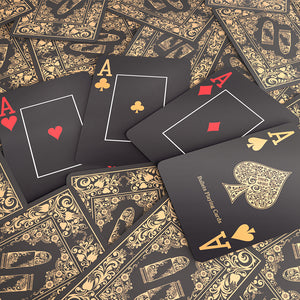 "Plastic poker cards ""Black Edition"""