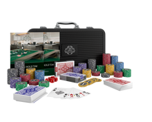 "Load the picture into the gallery viewer, poker case with 300 ceramic poker chips ""Silvio"" with values"