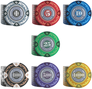 "Poker chips ""Tony"" with values ​​- roll of 20"