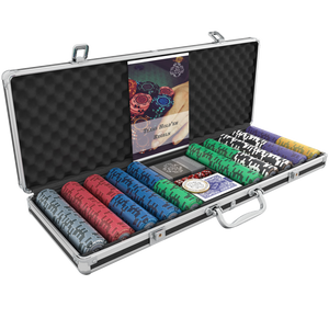 "Poker case with 500 designer clay poker chips ""Tony"" with values"