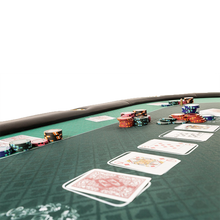 Load the picture into the gallery viewer, poker table with folding legs