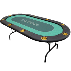 Poker table with foldable legs