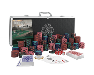 """Poker case with 500 clay poker chips """"Corrado"""" without values"""