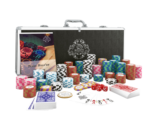 Pokerkoffer mit 300 Clay Pokerchips