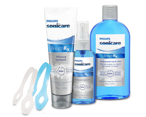 Breathrx Starter Kit New Sonicare Toothpaste Tongue Spray Mouth Rinse Wash