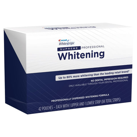 Crest® Whitestrips Supreme 14% concentrate (82 total strips , 42 pouches )