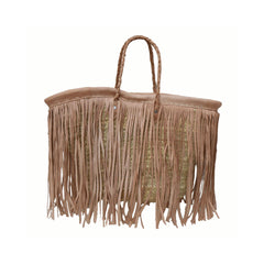 Fringe Leather Market Bag