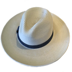 Peninsula Panama Hat with Chambray Band