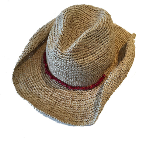 Sauvies Island Farm Hat with Coral Trim