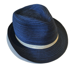 Indigo Fedora with White Band