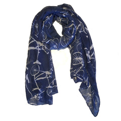 Blue Bike Scarf