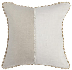 Shoreline Frayed Seam Throw Pillow