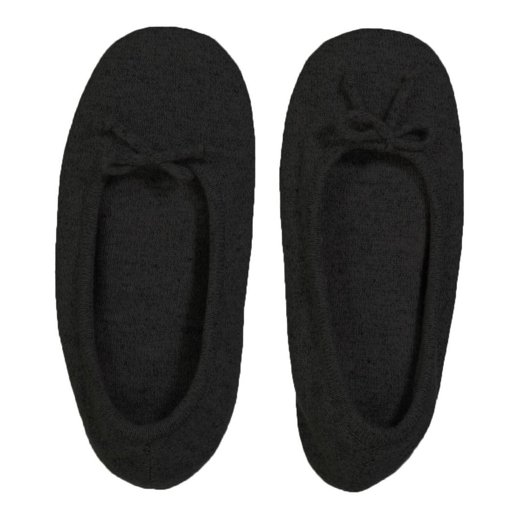 Gift - Cashmere Slippers in Black