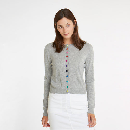 Cardigan w/ Multi Color Buttons