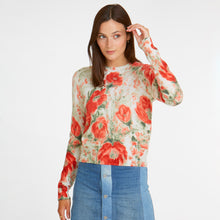 Load image into Gallery viewer, Vintage Floral Crew in Orange