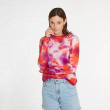 Load image into Gallery viewer, Tie Dye Crew in Crab Bisque
