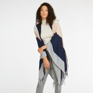 Fringed Blanket Cape