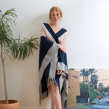 Load image into Gallery viewer, Fringed Blanket Cape