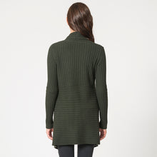 Load image into Gallery viewer, Cashmere Rib Drape Cardigan in Green by Autumn Cashmere | Women's Clothing & Knitwear
