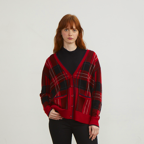 Plaid Boyfriend Cardigan