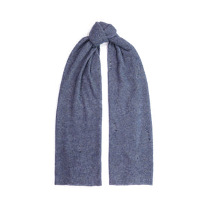 Distressed Cashmere Wrap in Denim