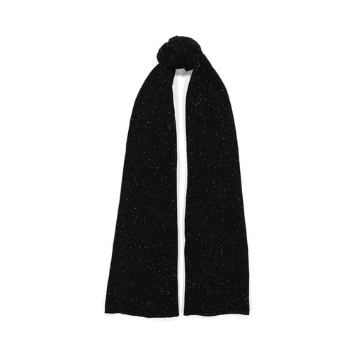 Angelina Featherweight Wrap in Black with Speckles | Black Scarf | Women's Knitwear | Autumn Cashmere