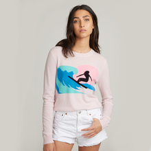 Load image into Gallery viewer, Surf Intarsia Crew / FINAL SALE