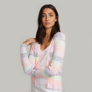 Space Dye Striped Rib Cardigan