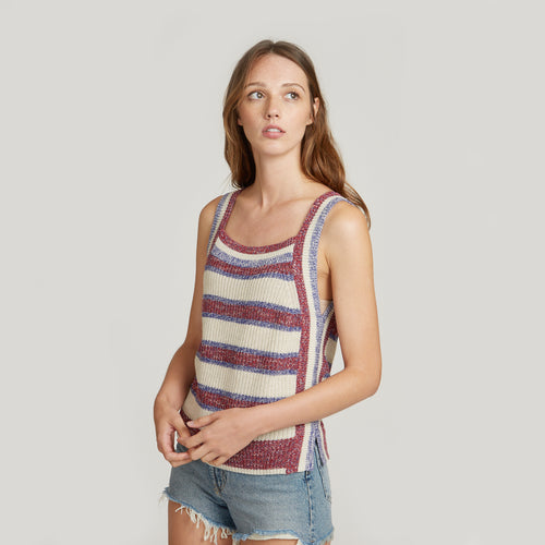 Striped Marled Shaker Tank