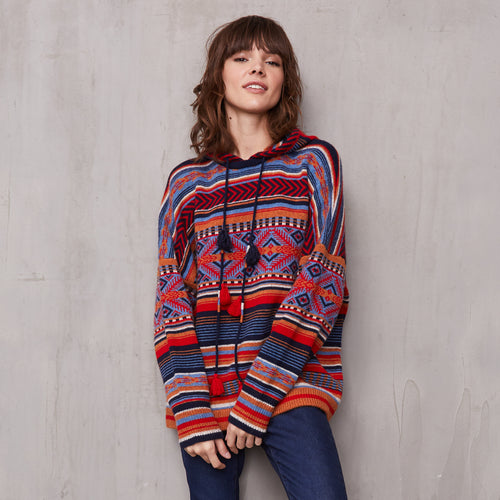 Tribal Hoodie in Cashmere | Autumn Cashmere