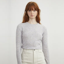 Load image into Gallery viewer, Rib Cashmere Crew in Cinder | Autumn Cashmere