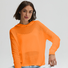 Load image into Gallery viewer, Scales Pointelle Hoodie in Mandarin