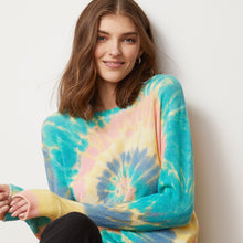 Load image into Gallery viewer, Pinwheel Tie Dye Crew Pullover | Women's Apparel & Knitwear | Autumn Cashmere