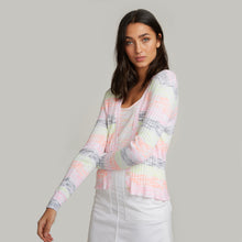 Load image into Gallery viewer, Space Dye Striped Rib Cardigan