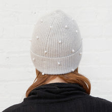 Load image into Gallery viewer, Rib Pearl Beanie in Sleet