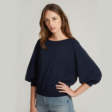 Load image into Gallery viewer, Cropped Bateau Neck Bishop Sleeve / FINAL SALE
