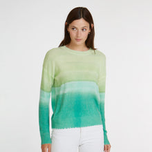 Load image into Gallery viewer, Printed Distressed Gradient Crew in Wintergreen