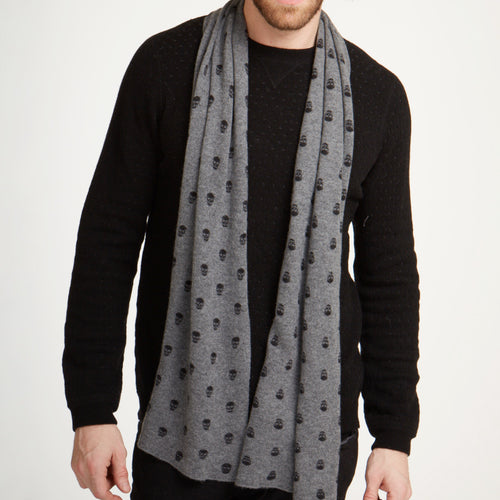 Skull Print Cashmere Scarf
