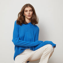 Load image into Gallery viewer, Baja Relaxed Hoodie in Blue | Blue Hoodie | Long Sleeves | Women's Apparel | Autumn Cashmere