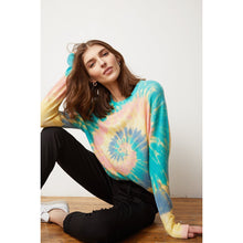Load image into Gallery viewer, Pinwheel Tie Dye Crew Shirt | Women's Apparel & Knitwear | Autumn Cashmere