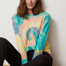 Load image into Gallery viewer, Pinwheel Tie Dye Crew Sweater | Women's Apparel & Knitwear | Autumn Cashmere