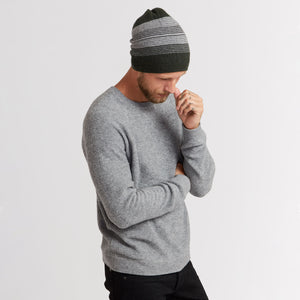 Ombre Striped Reversible Beanie