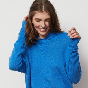 Baja Relaxed Hoodie in Blue | Blue Hoodie | Long Sleeves | Women's Apparel | Autumn Cashmere