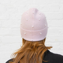 Load image into Gallery viewer, Rib Pearl Beanie in Cherry Blossom