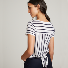 Load image into Gallery viewer, Striped Tie Back Tee