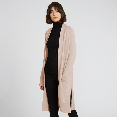 Maxi Cashmere Cardigan in Butterscotch | Autumn Cashmere