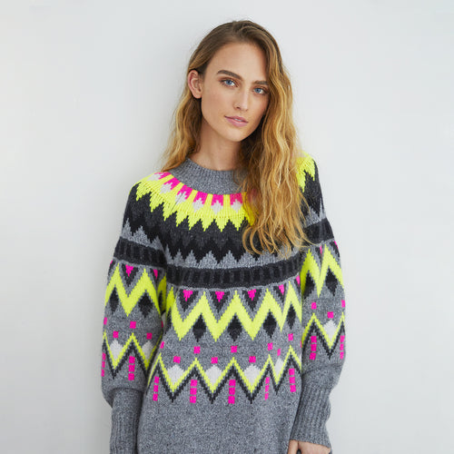 Oversized Fair Isle Crew